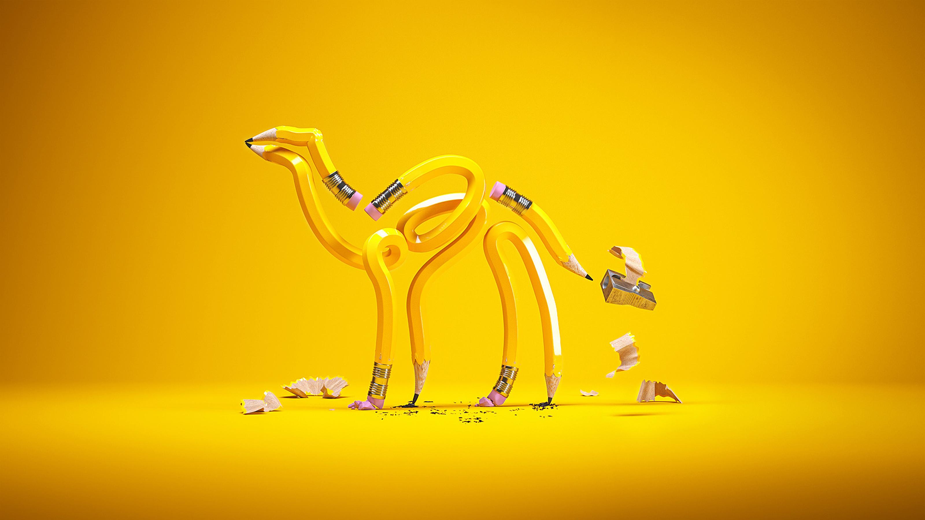 Pencil camel port